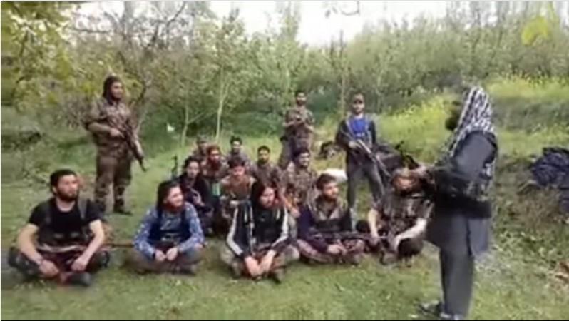 Hizbul Mujahideen cadres in South Kashmir