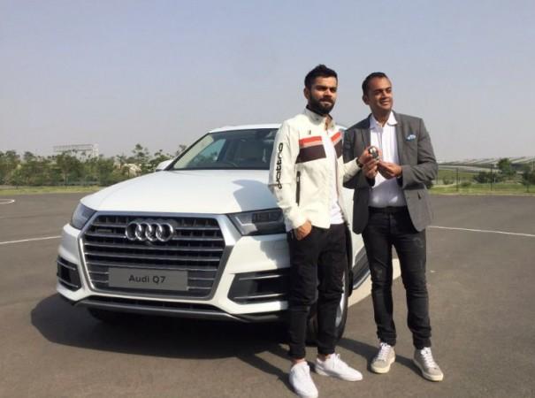 Virat Kohli and Audi Q7