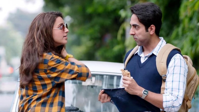 Ayushmann Khurrana and Parineeti Chopra in Meri Pyari Bindu