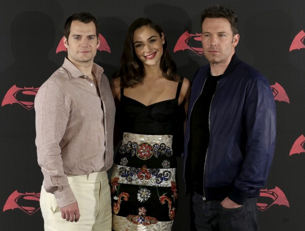 Henry Cavill Superman, Gal Gadot Wonder Woman, Ben Affleck Batman