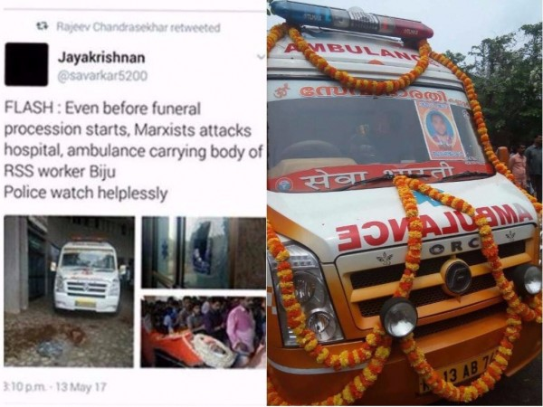 Violence in Kannur: BJP MP removes misleading tweet ...