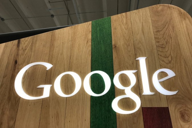 A Google logo is seen in a store in Los Angeles, California, U.S