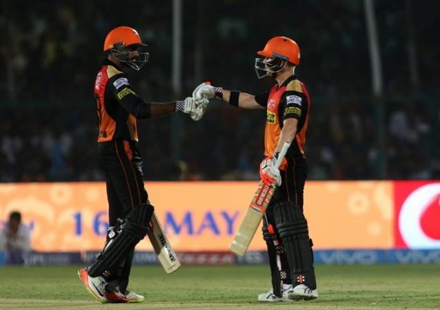 Vijay Shankar, David Warner, SRH, IPL 2017, Eliminator