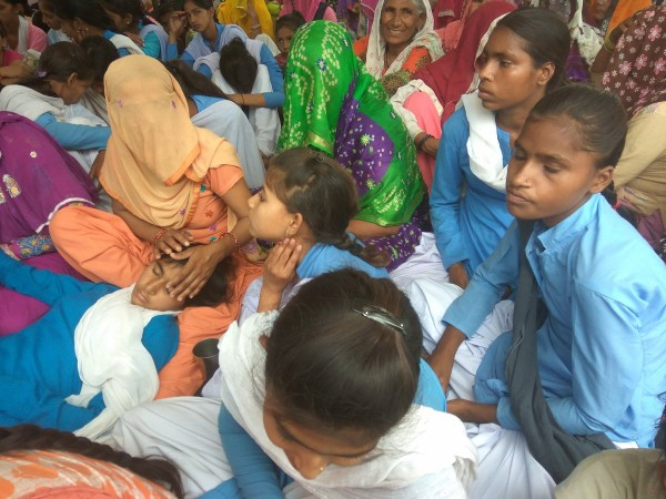 Girl students from Rewari Government school on day 8 of their hunger strike