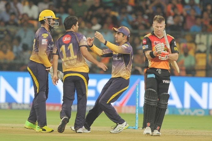 KKR, David Warner, SRH, IPL 2017, playoffs
