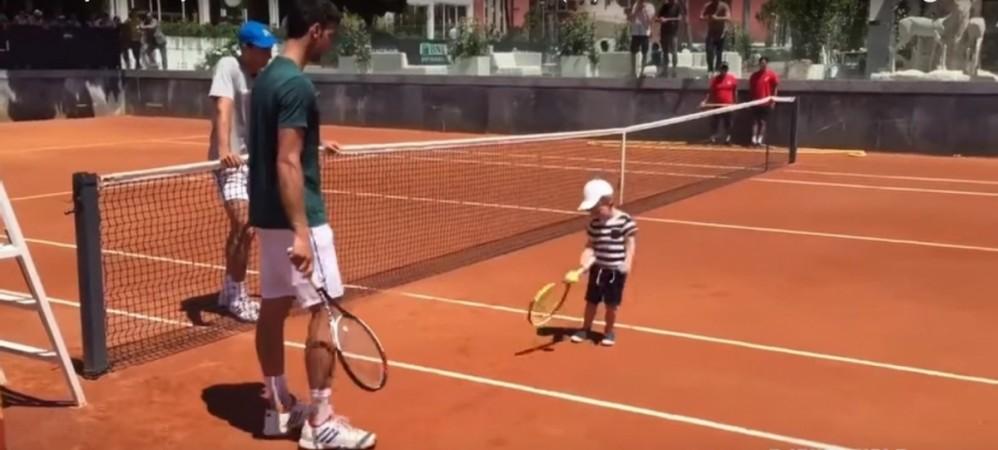 Novak Djokovic, Djokovic's son, Stefan, Rohan Bopanna