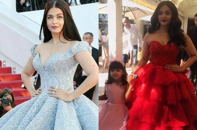 Aishwarya Rai Bachchan with Aaradhya at Cannes 2017