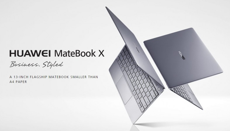 Huawei MateBook X as seen on company's website