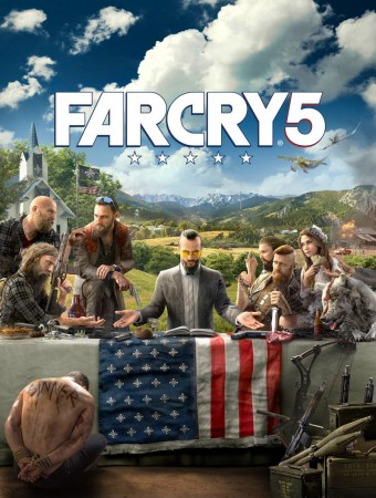 Far Cry 5 artwork with Last Supper thematic