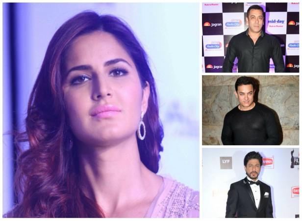 Katrina Kaif, Salman Khan, Aamir Khan and Shah Rukh Khan