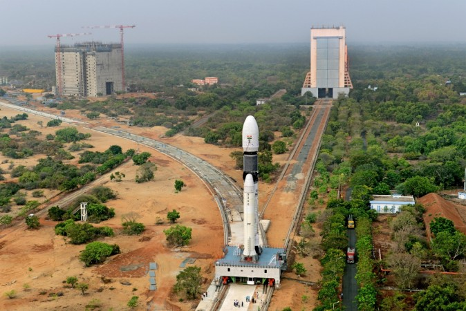 Panoramic View of GSLV-Mk III being moved to second launch pad