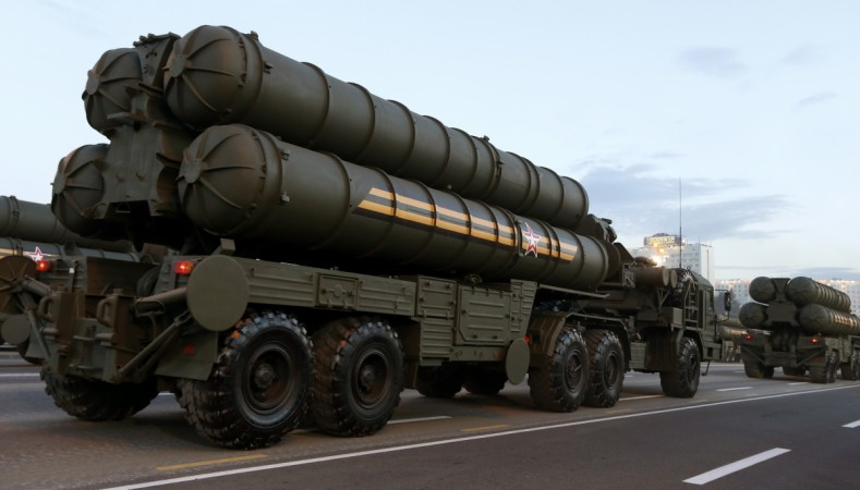 Russian S-400 air defence mobile missile launching systems