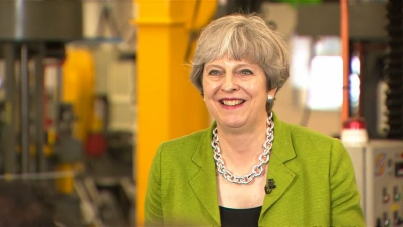 Theresa May drilled on TV debate absence during election campaign stop