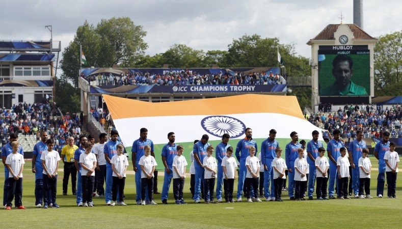 Britain Cricket - India v Pakistan - 2017 ICC Champions Trophy Group B - Edgbaston - June 4, 2017 India players during a period of silence in tribute to the victims of last night's London terror attack