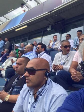 Vijay Mallya spotted at Champions Trophy match