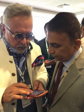 Vijay Mallya with Sunil Gavaskar