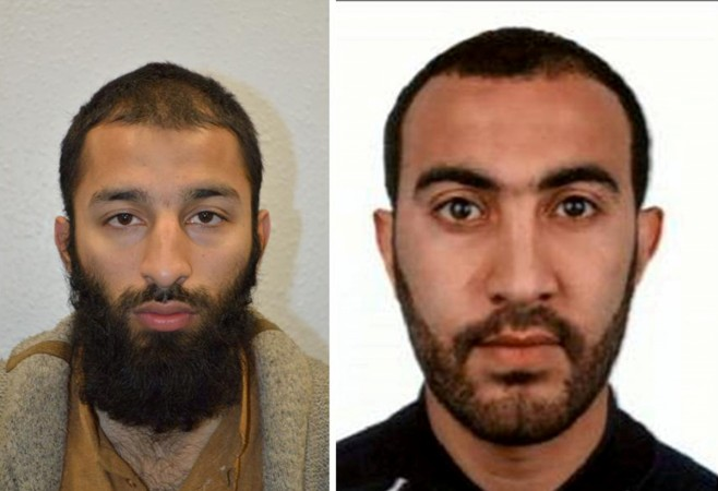 Two of the men shot dead by police following the attack on London Bridge and Borough Market on Saturday are seen in this undated combination image of two photographs, received in London via the Metropolitan Police in London on June 5, 2017. On left is Khu