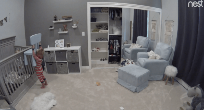 baby video, viral baby video, baby crib escape