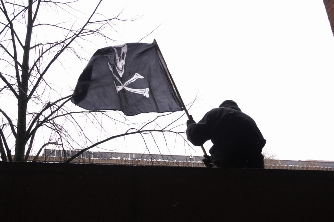 Pirate flag during TPB trial