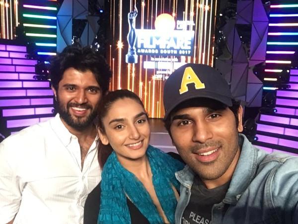 Allu Sirish, Ragini Dwivedi and Vijay Devarakonda