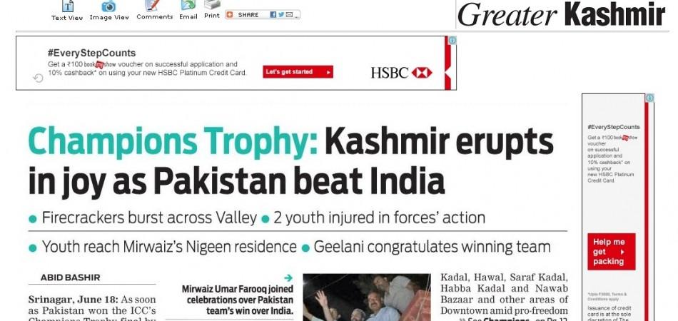 India vs Pakistan,Kashmir media, Media reaction