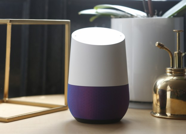 Google Home is displayed during the presentation of new Google hardware in San Francisco