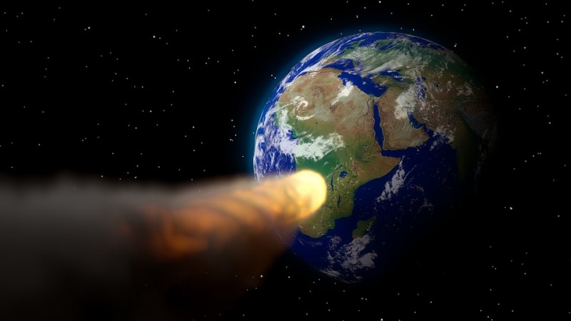 asteroid, Earth. collision, space, danger,