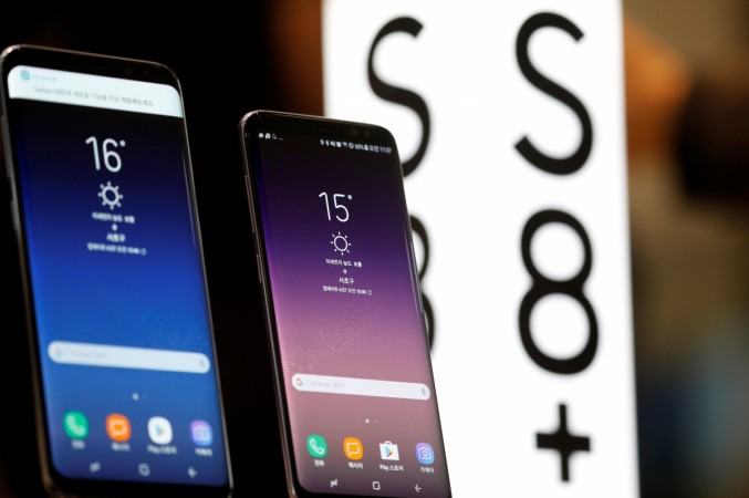 Samsung Electronic's Galaxy S8 and S8  are displayed at its store in Seoul, South Korea