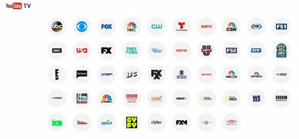 Google, YouTube TV, US, cable service, sports, subscription, SHOW TIME,