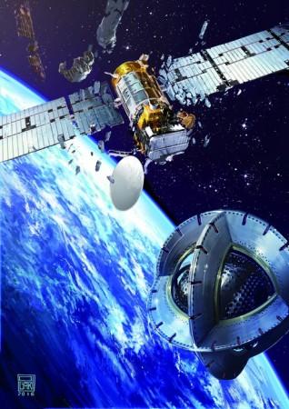 ESA, satellite, debunked satellite, magnetic tug, space, ISS,
