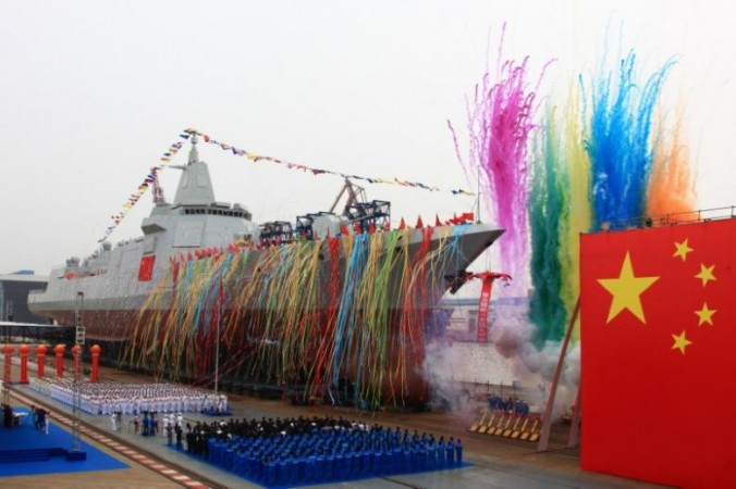 China launches destroyer