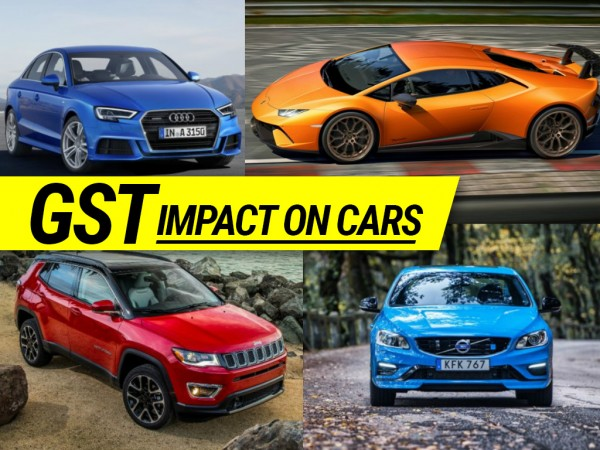 GST impact on cars