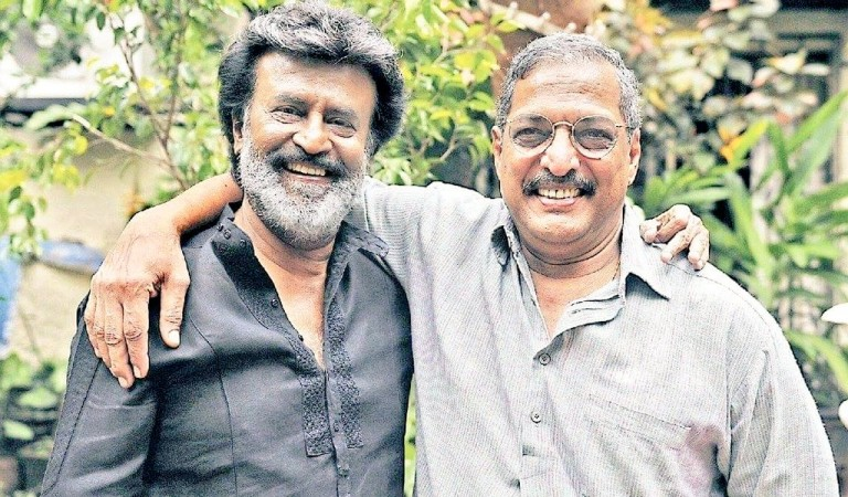 Rajinikanth with Nana Patekar on Kaala sets