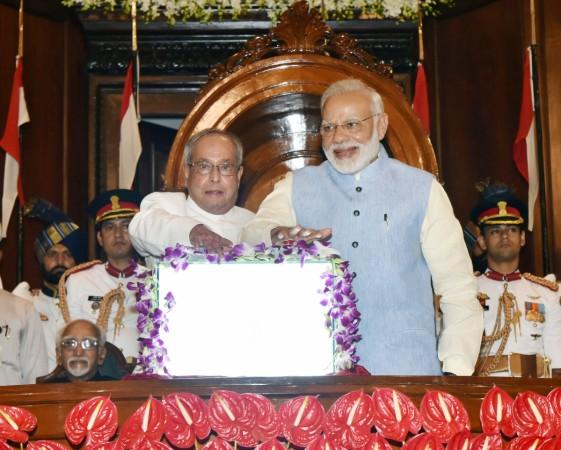 President Pranab Mukherjee and Prime Minister Narendra Modi