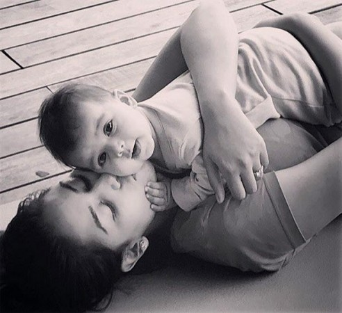 Mira Rajput with baby Misha