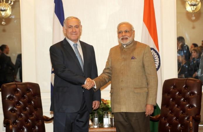 Israel Prime Minister Benjamin Netanyahu and Prime Minister Narendra Modi