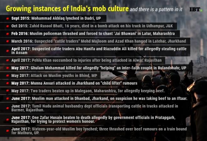Instances of cow vigilantism in Narendra Modi's India between September 2015 and June 2017