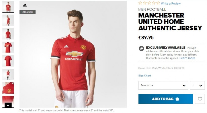 huge selection of cf8d7 3b9e3 Manchester United 2017-18 Home kit Launch: Does the £90 ...