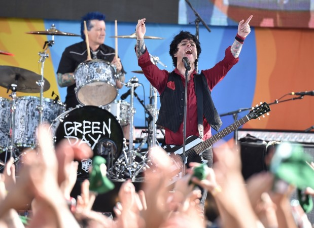 Tre Cool and Billie Joe Armstrong of Green Day band