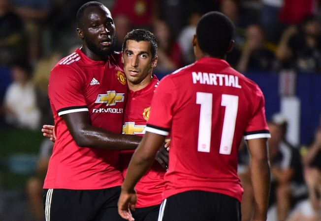 Romelu Lukaku, Henrikh Mkhitaryan, Anthony Martial, Manchester United, LA Galaxy