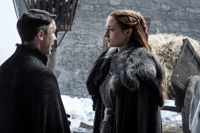 Sophie Turner as Sansa Stark with Aidan Gillen as Peter Baelish