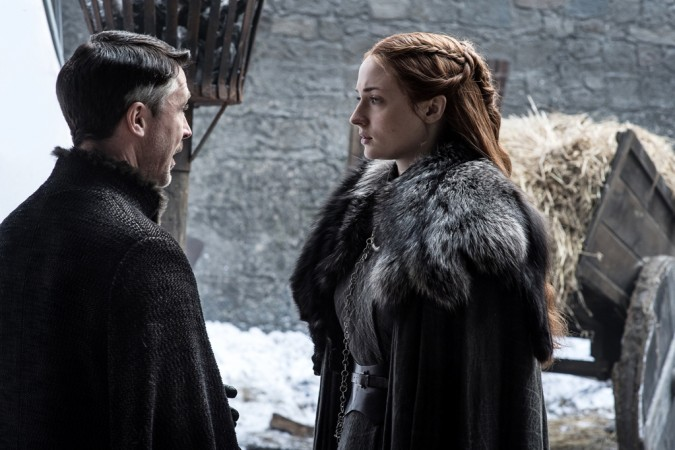 Sophie Turner as Sansa Stark with Aidan Gillen as Peter Baelish