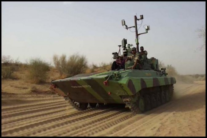 Muntra, India's first unmanned tank
