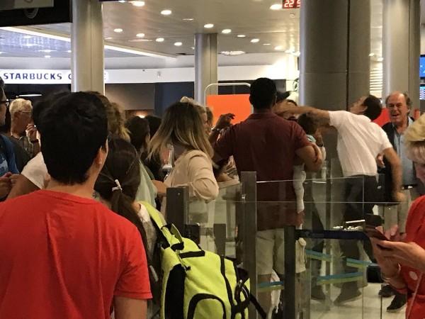 Airport Passenger Slapped