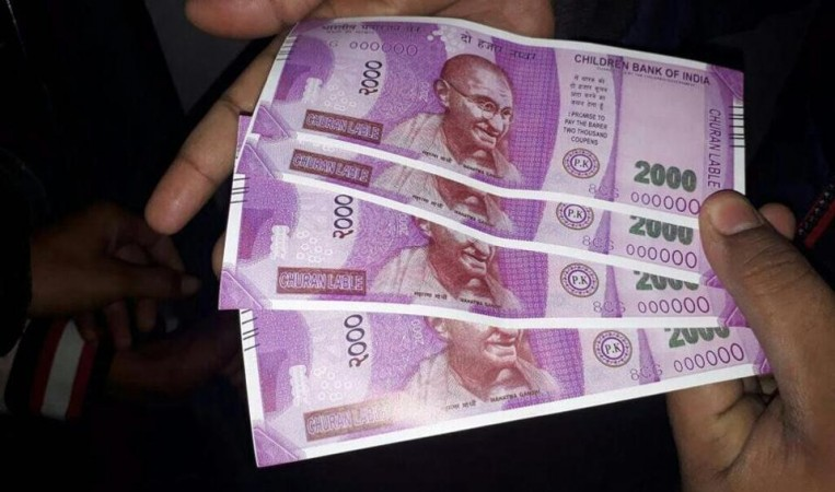 The fake Rs 2,000 notes were dispensed bearing 'Guaranteed by the Children's Government', etc.