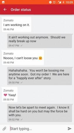 Zomato conversation