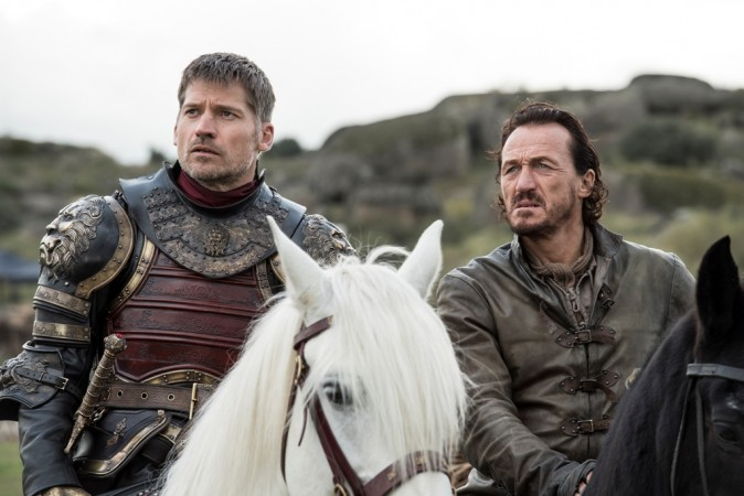 Nikolaj Coster-Waldau and Jerome Flynn in a still from Ep 4 'Spoils of War'
