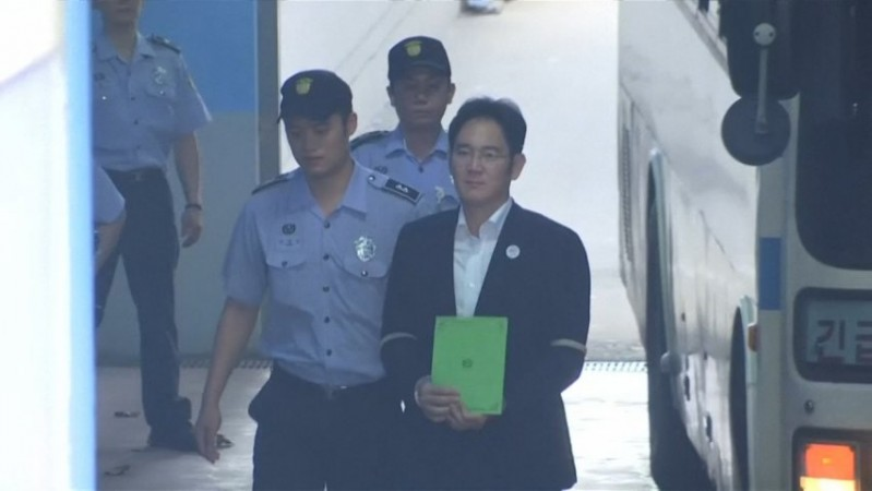 Samsung chief Jay Y Lee arrives in court for closing arguments in bribery trial