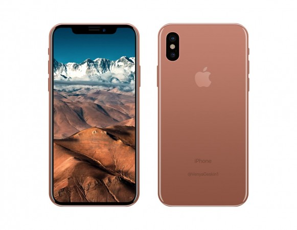iPhone 8 Copper Gold leaked render
