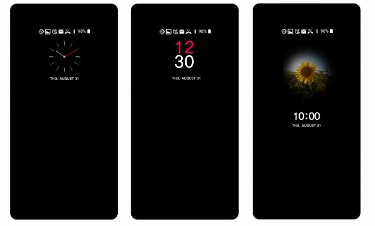 LG V30, UX 6.0, face scanner, floating Bar, voice recognition, clock faces
